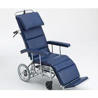 三貴ホールディングス フルリクライニング車椅子 (介助式/アルミ製/座幅460mm/エアータイヤ) MFF-50 1台 8-9410-01(直送品)