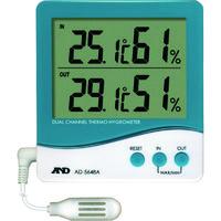 エー・アンド・デイ(A&D) デュアルチャンネル温度・湿度計 AD5648A 1台 392-2057 (直送品)