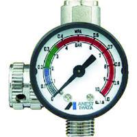アネスト岩田(ANEST IWATA) ストレートタイプ手元圧力計 AJR-02S-VG 1個 419-4632 (直送品)
