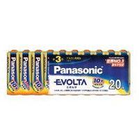 パナソニック(Panasonic) エボルタ乾電池 お買得単3形20本パック LR6EJ/20SW 1パック(20本) 362-2665 (直送品)
