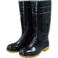 福山ゴム工業 福山ゴム 耐油長靴先芯入り ガロア#1ブラックL GLA1-LB 1足 400-2415(直送品)