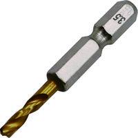 イチネンMTM ミツトモ 2本組 六角軸ショートドリル 3.5mm 26845 1パック(2本) 403-5381(直送品)