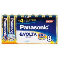 パナソニック(Panasonic) エボルタ乾電池 お買得単4形8本パック LR03EJ/8SW 1パック(8本) 362-2622 (直送品)