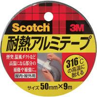 スリーエム ジャパン(3M) 3M 耐熱アルミテープ 50mmX9m ALT-50 1巻(9m) 410-6989(直送品)