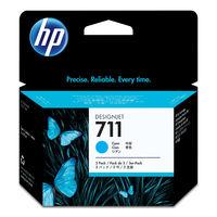 HP インクジェットカートリッジ HP711 シアン 1パック(3本入) CZ134A (直送品)