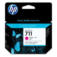 HP インクジェットカートリッジ HP711 マゼンタ 1パック(3本入) CZ135A (直送品)