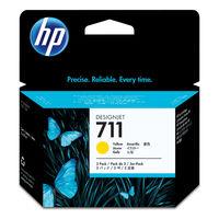 HP インクジェットカートリッジ HP711 イエロ- 1パック(3本入) CZ136A (直送品)