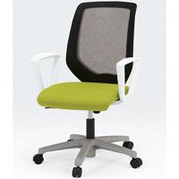 イトーキ コルト オフィスチェア ベースカラーホワイト ループ肘付 グリーン KT-236JD-W9Q6T1 1脚 (直送品)