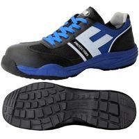 ミドリ安全 JSAA認定 小指保護 作業靴 プロスニーカー PF110 24.5cm ブルー 1足 2125036008(直送品)