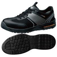 ミドリ安全 JSAA認定 耐滑 作業靴 プロスニーカー ISA801 静電 23.5cm ブラック 1足 2125043106(直送品)