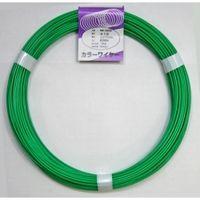 和気産業 カラーワイヤ 緑 #12×38M IW-325 1セット(304m:38m×8個) (直送品)