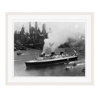 アートプリントジャパン 「ニューヨーク(1935年)」 フレーム/L/ホワイト 1枚