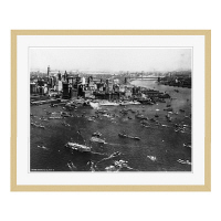 アートプリントジャパン 「ニューヨーク(1927年)」 フレーム/L/木目 1枚