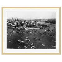 アートプリントジャパン 「ニューヨーク(1927年)」 フレーム/XL/木目 1枚