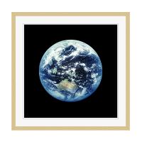 アートプリントジャパン 「人工衛星から見た地球イメージ」 フレーム/XL/木目 1枚