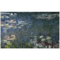アートプリントジャパン 「Waterlilies: Green Reflections」 キャンバス/L 1枚