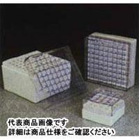 クライオボックス5.0mL用81本立て (ポリカーボネート製) 134*134*96mm 1ケース24個入 NL5027-0909 1ケース  (直送品)