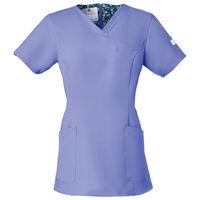 フォーク 医療白衣 ワコールHIコレクション レディススクラブ(後ろジップ) HI700-12 ストエカス LL (直送品)