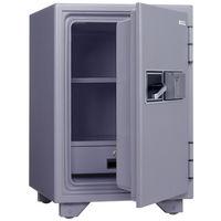 日本アイ・エス・ケイ 指紋認証式耐火金庫(1時間耐火) 50L グレー KS-50FPEA 1台 (直送品)