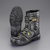 エスコ(esco) 25.5cm 静電安全靴(ロング/黒) 1足 EA998YH-25.5(直送品)