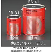 エスコ(esco) 3.0kg 耐熱塗料(艶消し・シルバー) 1缶(3000g) EA942FB-41(直送品)