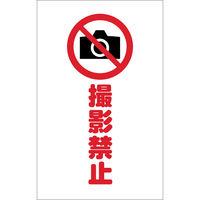 トラスコ中山(TRUSCO) TRUSCO チェーンスタンド用シール 撮影禁止 2枚組 TCSS-023 1組(2枚) 438-9921(直送品)