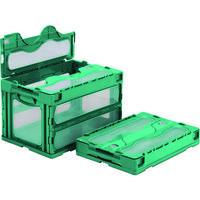 サンコー フタ一体型折りたたみコンテナー 559000 マドコンC-50Bグリーン SKO-C-50B-GR 432-2827(直送品)