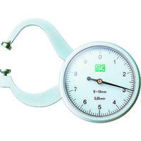 新潟精機 SK ダイヤルキャリパゲージ 測定範囲0〜10mm 最小表示0.05mm 151585 1個 353-3816(直送品)