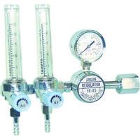 ヤマト産業 二連式流量計付アルゴン用圧力調整器 YR-85F2 YR85F2 1台 434-6785 (直送品)