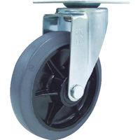 ユーエイ 産業用キャスター自在車 150径ゴム車輪 RJ2F-150NWR-G 1個 380-3317(直送品)