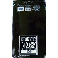 日本サニパック サニパック N-92Nシリーズ90L黒 10枚 N-92-BK 1袋(10枚) 433-1958 (直送品)