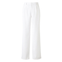 KAZEN メンズスラックス 医療白衣 ホワイト L 252-20 (直送品)