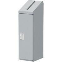 ぶんぶく 機密書類回収ボックススリムダイヤル錠仕様シルバー (直送品)