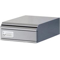 ぶんぶく 機密書類回収ボックス卓上型ダイヤル錠仕様シルバー (直送品)