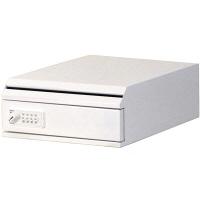ぶんぶく 機密書類回収ボックス卓上型ダイヤル錠仕様ホワイト (直送品)