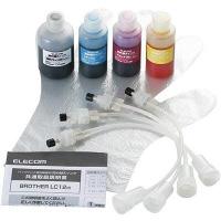 詰め替えインク THB-12BCSET 1パック(4色入) ブラザー LC12BK/C/M/Y用 (直送品)