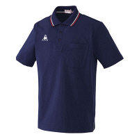 ルコックスポルティフ 介護ウェア ポロシャツ(男女兼用) ネイビー EL UZL3011 (直送品)