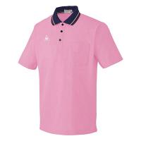 ルコックスポルティフ 介護ウェア ポロシャツ(男女兼用) ピンク L UZL3011 (直送品)