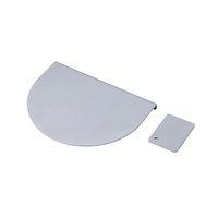 サンワサプライ モニターアーム補強プレート プレート大:W200×D150×t2.5mm プレート小:W70×D50×t2.5mm シルバー (直送品)