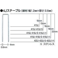 マックス(MAX) タッカ用ステープル 肩幅4mm 長さ22mm 5000本入り 422J 1箱(5000本) 323-9080 (直送品)