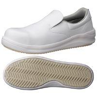 ミドリ安全 JSAA認定 耐滑 安全作業靴 スリッポン NHS600 大 30.0cm ホワイト 1足 2125033103(直送品)