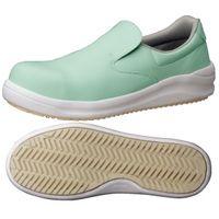 ミドリ安全 JSAA認定 耐滑 安全作業靴 スリッポン NHS600 25.0cm グリーン 1足 2125034009(直送品)