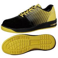 ミドリ安全 JSAA認定 作業靴 プロスニーカー WPA110 25.5cm ブラック/イエロー 1足 2125036710(直送品)