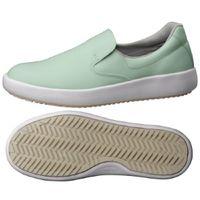ミドリ安全 作業靴 耐滑 スリッポン NHS700 大 先芯なし 29.0cm グリーン 1足 2125084302(直送品)