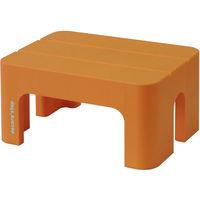 SANKA(サンカ) 踏台 ポリプロピレン デコラステップS オレンジ 20cm DS-SOR 1個 (直送品)