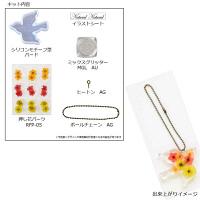 レジンクラフトキット「押し花パーツで作るバード型チャーム」 (直送品)