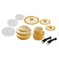 アイリスオーヤマ セラミックカラーパン13点セット IH対応 オレンジ 1セット (直送品)