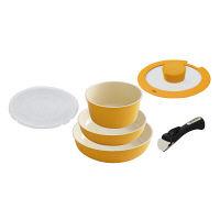 アイリスオーヤマ セラミックカラーパン6点セット IH対応 オレンジ 1セット (直送品)