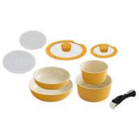 アイリスオーヤマ セラミックカラーパン9点セット IH対応 オレンジ 1セット (直送品)