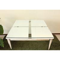 東馬(Tohma) frast ダイニングテーブル ホワイト 幅800×奥行800×高さ730mm 1台 (直送品)